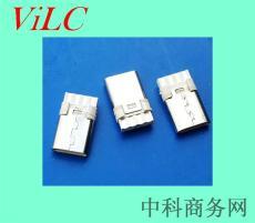 简易双面焊线TYPE C公头-8P单充电 3A大电流