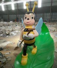 树脂园林景观玻璃钢蜜蜂雕塑落地摆件