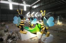 三水景区装饰玻璃钢蜜蜂卡通雕塑落地摆件