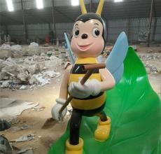 深圳城市景观落地摆件昆虫类玻璃钢蜜蜂雕塑