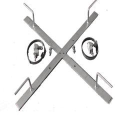 预绞丝杆用余缆架  十字型杆用 喉箍钢带型