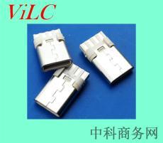 双面焊线8P-TYPE C公座/简易充电USB插头