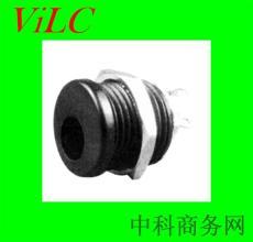 直插-焊线式DC电源插座DC00220-带螺丝螺口