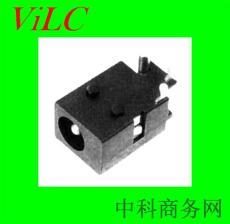 卧式DC电源插座DC00230-大PIN柱/两定位柱