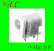 90度插板DC00280/DC电源插座 PBT白胶大电流