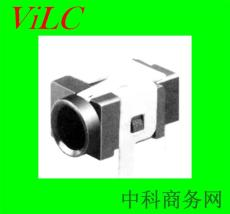 DC00310 90度插件DIP-DC电源插座 LCP黑胶