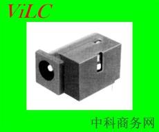 侧偏圆头DC电源插座DC00660 90度插件卧板