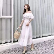 橘子小姐19年当季网红款连衣裙货源渠道批发