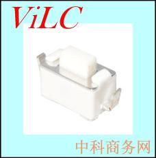 3X6X4.3-6.0-白色按鍵輕觸開關 內彎貼腳LCP