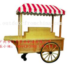 景区可移动多功能木制耐用移动摊位车