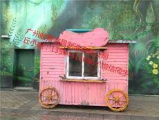 室內定制防腐戶外動物園攤位車