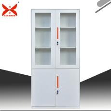 對開門文件矮柜鋼制玻璃文件存儲柜