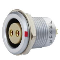 沿溪连接器  2芯母插座  推拉自锁金属航空