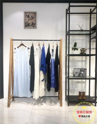 深圳知名品牌合一短袖纯棉连衣裙广州盛发女