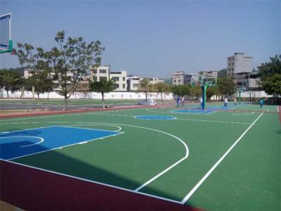 湖南塑胶球场施工篮球场施工硅PU篮球场地