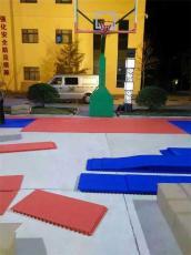 湖南室外拼装地板篮球场悬浮地板塑胶球施工