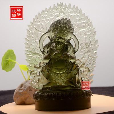 大黑天财神佛像古法琉璃佛像厂家