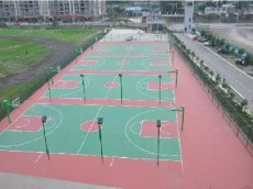 綠色環保水性防滑硅PU球場材料硅PU運動場地