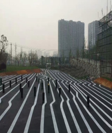 淳化咸阳园林绿化彩色混凝土压模地坪