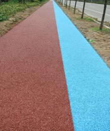韩城彩色透水混凝土 渭南地坪材料厂家自产