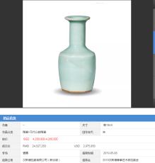 2019年新加坡汉斯德拍卖 宋代龙泉青釉瓷器