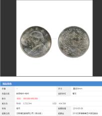 2019年新加坡汉斯德钱币专场拍卖袁大头成交
