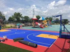 拼装地板篮球场施工建设塑胶篮球场专业施工