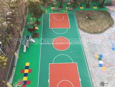 广州硅PU篮球场施工建设及塑胶球场材料厂家