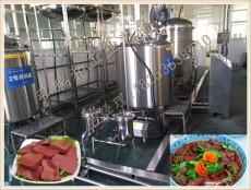 大型猪血加工机器-盒装猪血设备-生产猪血设