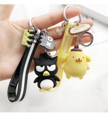 PVC3D鑰匙扣立體創意卡通動漫人物鑰匙環