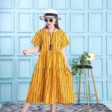 名品女裝連衣裙 夏季女裝T恤連衣裙批發