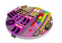 大型蹦床公园/室内儿童游乐场设备淘气堡