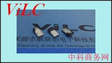 夹板0.78-1.0MICRO 5P公头-不带地线 电镀镍