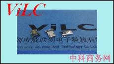 MICRO 5P全贴公头-四Y型短脚SMT 不锈钢壳