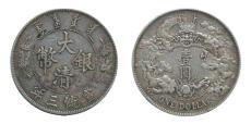 大清银币宣统三年曲须龙价值两百万