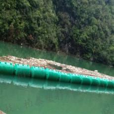 分水岭垃圾拦截浮筒浮箱式拦污排厂家