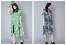 品牌女装折扣金兆成爆款连衣裙尾货源市场