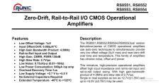 高精度運算放大器RS8551/RS8552/RS8554