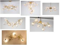 定制别墅客厅手工玻璃吊灯