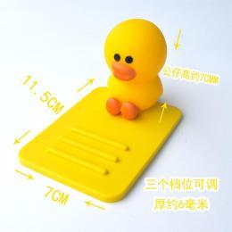 礼品定制公仔手机支架独角兽和小鸭子样式