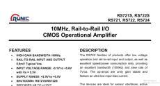 低噪運算放大器RS721XF/RS722XK/RS724