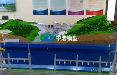 引水式電站廠房一臺機組段加安裝間廠房模型