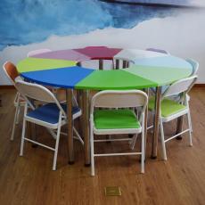 厂家直销悦心堂团体活动桌椅