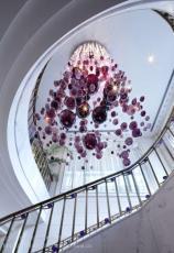 非标定制酒店大型手工玻璃艺术泡泡吊灯