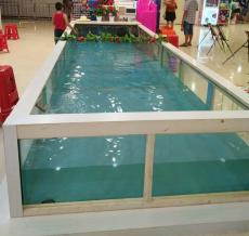 湖南长沙喂奶鱼池厂家 吃奶鱼溜溜鱼池价格