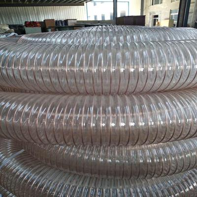 甘肃pu螺旋钢丝管木工除尘管解决通风吸尘问