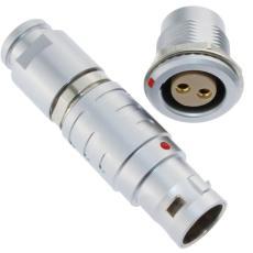 长方捷连接器2芯推拉自锁插头插座测试线束
