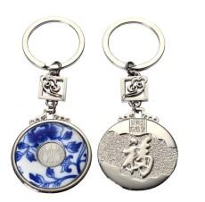 南京苏州青花瓷钥匙扣仿玉钥匙扣专业生产厂