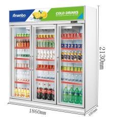 三門便利店飲料冷藏展示柜