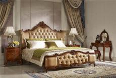 重庆欧式家具欧式实木床欧式真皮床